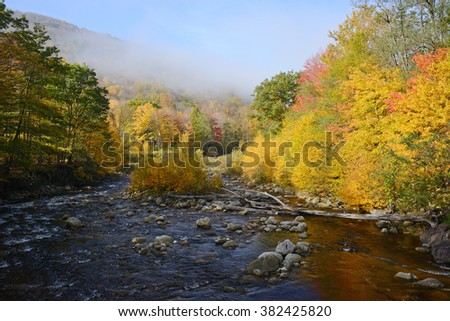 creek in west virginia with fall color