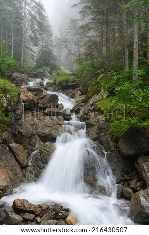 Creek near Rosenlaui Glacier Gorge,  Bernese Alps, Switzerland, Europe
