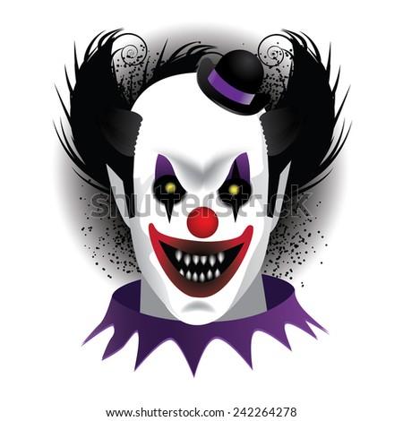 Creepy Clown stock illustration - stock photo