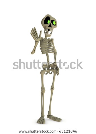 creepy kooky halloween skeleton