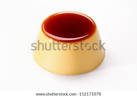 Creme caramel , Caramel custard , Custard pudding - stock photo