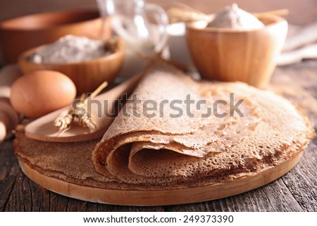 crepe, galette - stock photo
