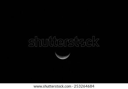 Crescent Moon - stock photo