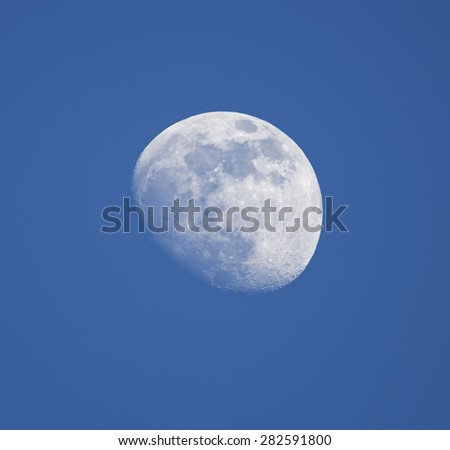 Crescent moon - stock photo