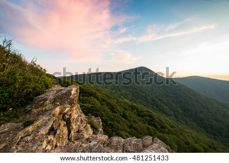 Cresent Overlook of Highest Peak in Shenandoah National Park, Virginia