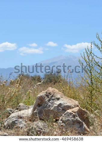 Cretan Countryside View in June