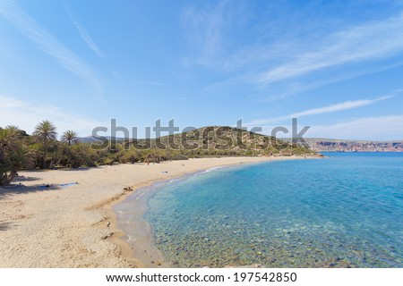 Crete - Greece - Beach of Vai - stock photo