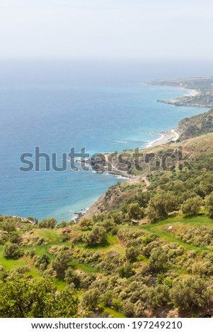 Crete - Greece - Coast of Koraka - stock photo