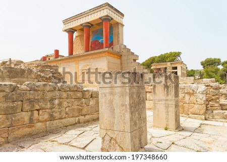 Crete - Greece - Landmark of Knossos - stock photo
