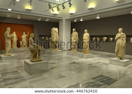 CRETE, GREECE - MAY 29, 2016: Sculpture Collection, Hellenistic period, Heraklion Archaeological Museum