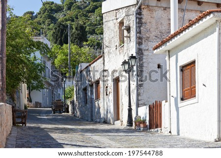 Crete - Greece - Mountain village Krasi - stock photo