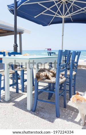 Crete - Greece - Playmates on Kalamaki - stock photo