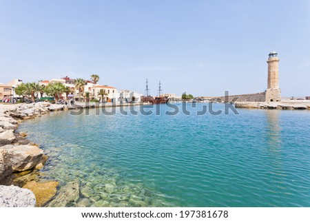 Crete - Greece - Port of Rethimno - stock photo