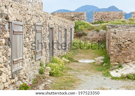 Crete - Greece - Ruins of Ierapetra - stock photo