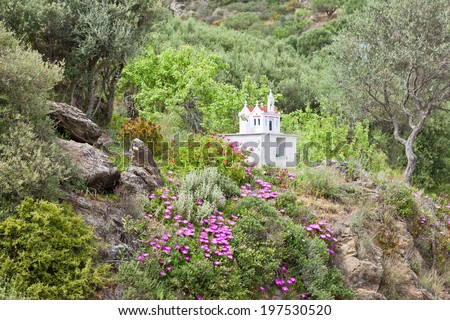Crete - Greece - Shrine of Exo Mouliana - stock photo
