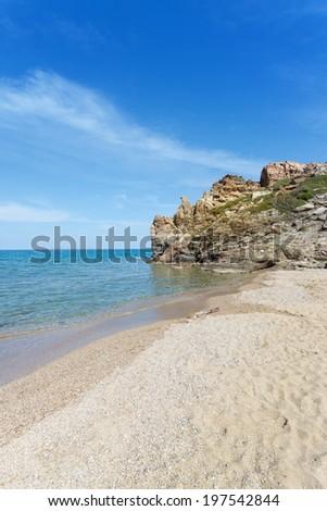 Crete - Greece - Sunshine at Vai Beach - stock photo