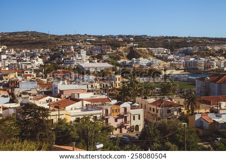 Crete mountain village  La Canea panorama - stock photo