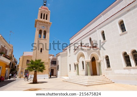 CRETE,RETHYMNO-JULY 23: Megalos Antonios church on July 23,2014 in Rethymnon city on the Crete island, Greece.