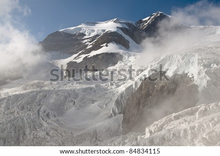 Crevasses and serac in the Alps 3