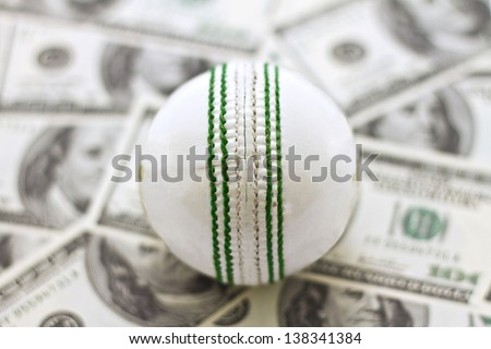 Cricket and Money - stock photo