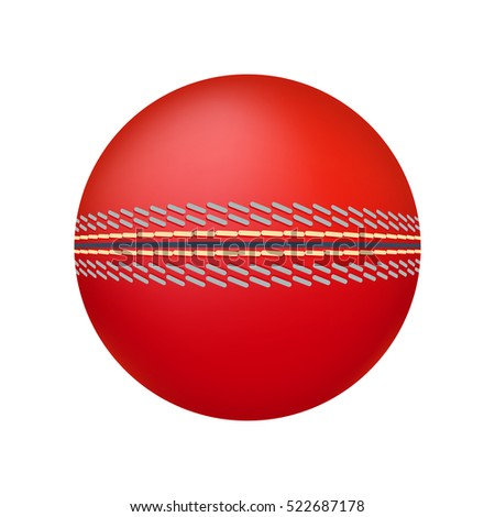 Cricket ball illustration.
