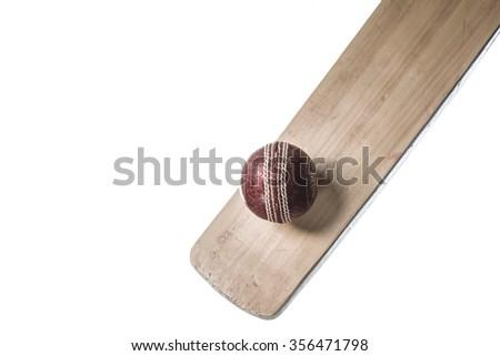 Cricket Batting - stock photo