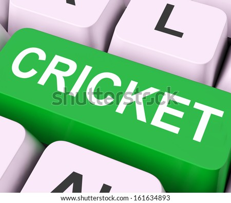Cricket Key On Keyboard Meaning Sport Or Match