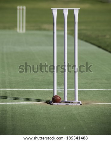Cricket Wicket - stock photo