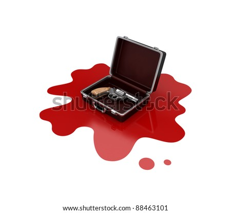 Crime concept.Isolated on white background.3d rendered. - stock photo