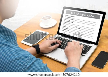 Crime Insurance Application Form Information Business