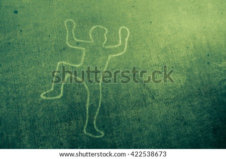 Body Outline Crime Stock Photos, Royalty-Free Images & Vectors ...