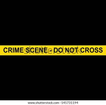 CRIME SCENE - DO NOT CROSS - stock photo