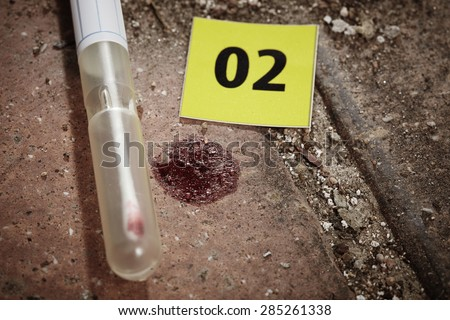 Crime scene investigation - collecting of DNA from blood