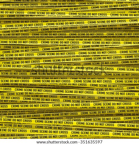 Crime scene tape / 3D render of large crime scene tape background