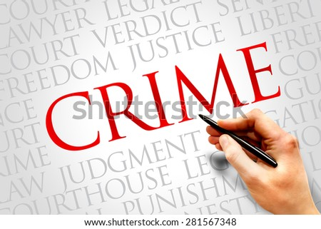 Crime word cloud concept - stock photo
