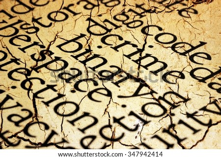 Crime word cloud grunge concept - stock photo
