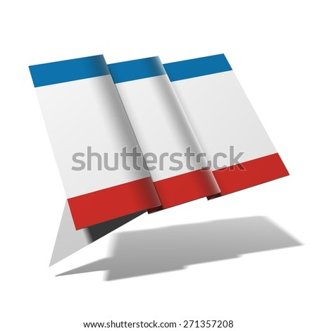 Crimea flag 3D banner - stock photo