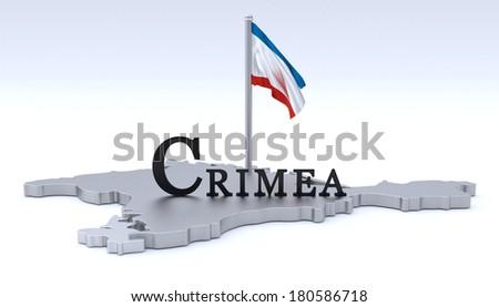 Crimea map - stock photo