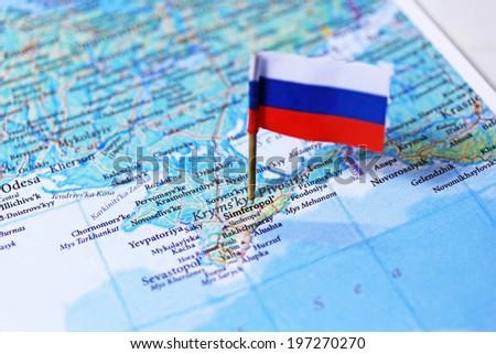 Crimean Peninsula Map Russian Flag Stock Photo (Royalty Free ...