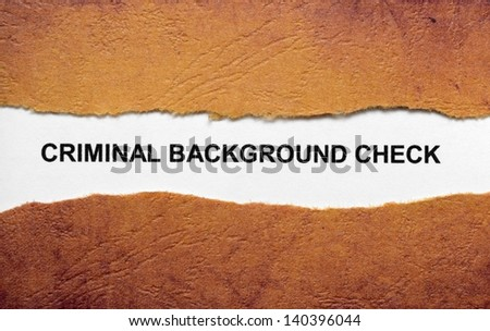 Criminal background check - stock photo