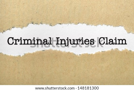 Criminal injuries claim - stock photo