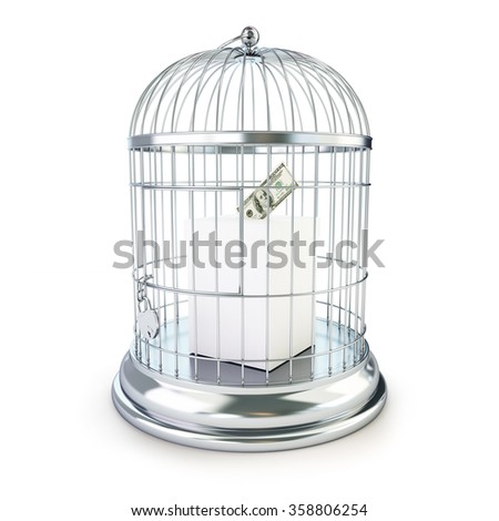 criminal penalties for bribing voters. 3d Illustrations on a white background  - stock photo