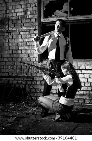 criminals - stock photo
