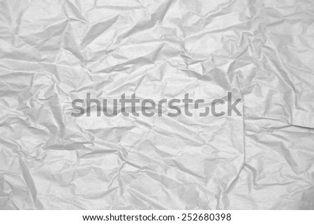 Crinkled Paper Background Texture - stock photo