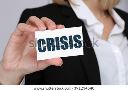 Crisis financial banking management depts business concept insolvency - stock photo