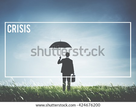 Crisis Loss Recession Catastrophe Risk Turning Point Concept - stock photo
