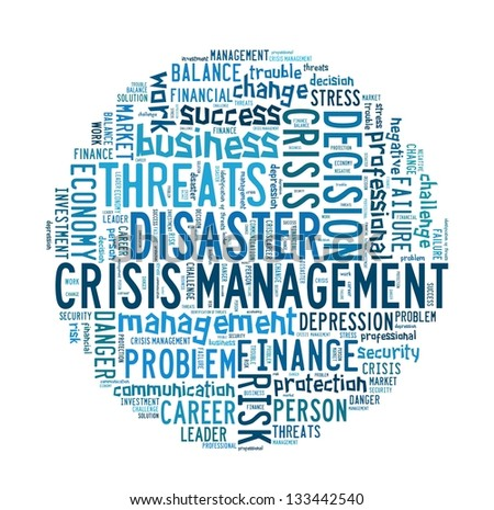 Crisis Management in word collage