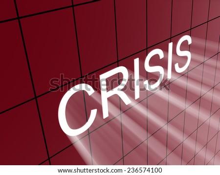 crisis on wall  - stock photo