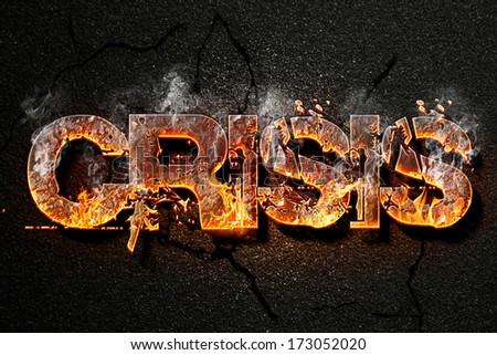 crisis text - stock photo