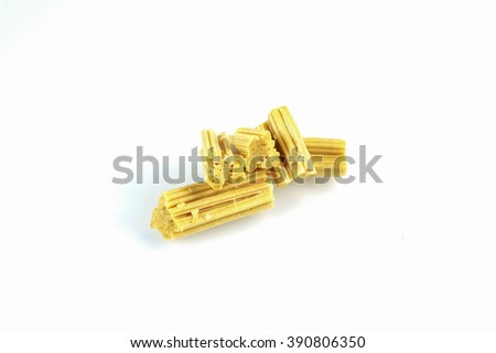 Crisp candy nougat candy made Thailand cannibalism within the family of Thailand in the past. - stock photo